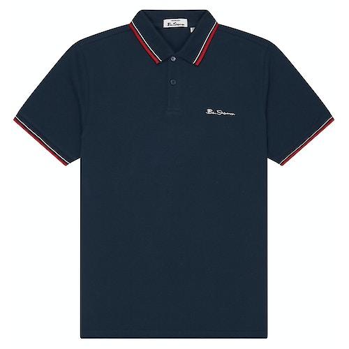 Ben Sherman Signature Pique Polo Shirt Navy