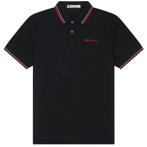 Ben Sherman Signature Pique Polo Shirt Black