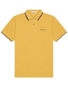 Ben Sherman Signature Pique Polo Shirt Yellow