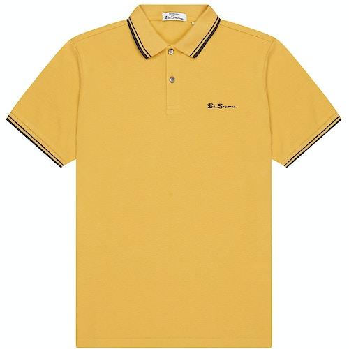 Ben Sherman Pique Poloshirt Gelb