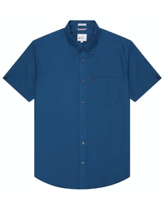 Ben Sherman Oxford Kurzarmhemd Blau