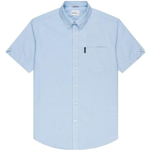 Ben Sherman Oxford Short Sleeve Shirt Sky Blue