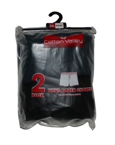 Cotton Valley 2 Pack Boxer Shorts