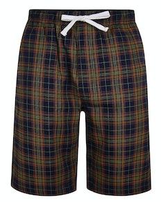 Bigdude karierte Pyjama Shorts Gelb/Marineblau