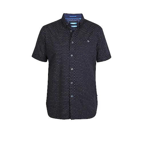 D555 Anton Printed Short Sleeve Shirt Navy