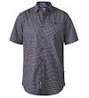 Mersey Micro Print Short Sleeve Shirt Navy