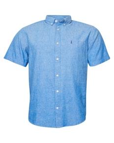 Replika Linen Short Sleeve Shirt Indigo