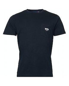 Replika T-Shirt mit Brusttasche Schwarz