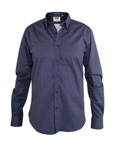 D555 Barker Printed Shirt Navy