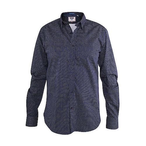 D555 Barker Printed Shirt Navy