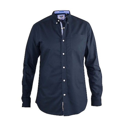 D555 Clarence Buttoned Down Oxford Shirt Navy