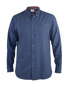 D555 Melbourne Gingham Check Long Sleeve Button Down Shirt