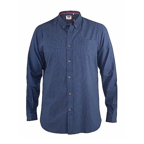 D555 Melbourne Gingham Check Long Sleeve Button Down Shirt