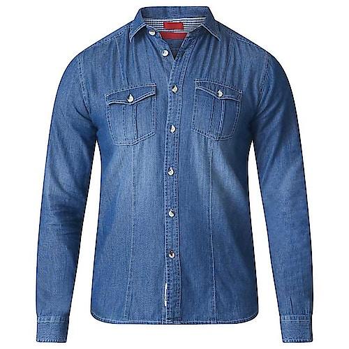 D555 Adcock Denim Shirt Blue Tall