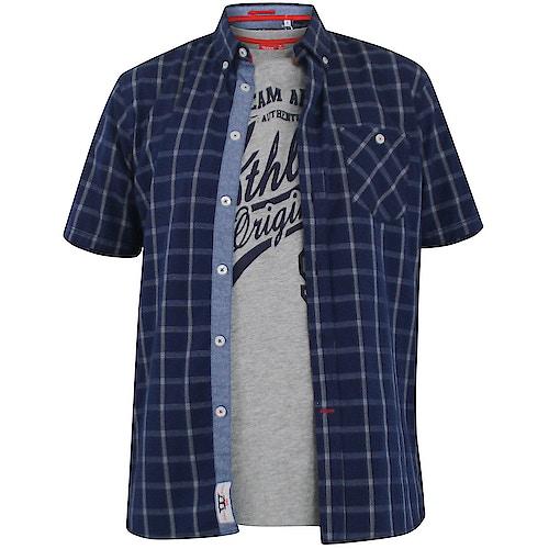 D555 Liberty Short Sleeve Shirt & T-shirt Combo Navy Tall