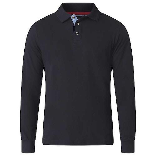 D555 Darvin Long Sleeve Polo Black Tall