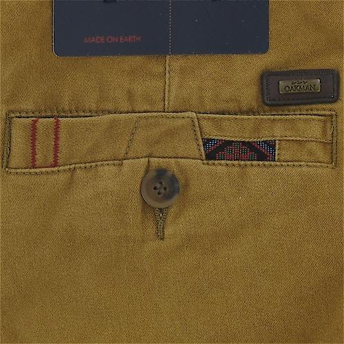 Oakman Caramel Sulphur Dye Chino Trousers Bigdude