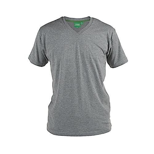 D555 Premium V -Neck T-Shirt Grey