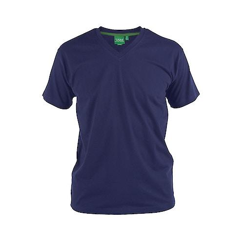 D555 Premium V-Ausschnitt T-Shirt Dunkelblau