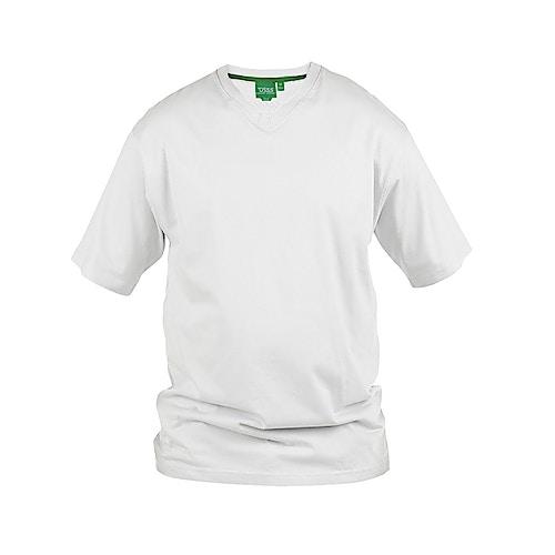 D555 Premium V -Neck T-Shirt White