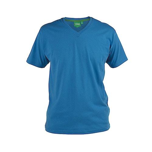 D555 Premium V -Neck T-Shirt Blue