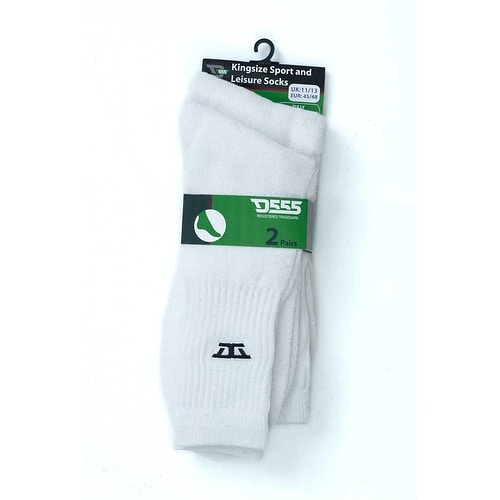 D555 Logan Sports and Leisure Socks White