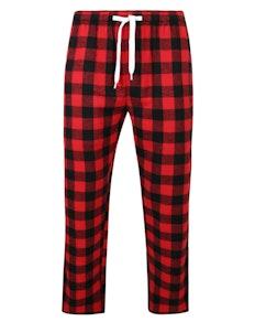 Bigdude gewebte karierte Pyjamahose Rot