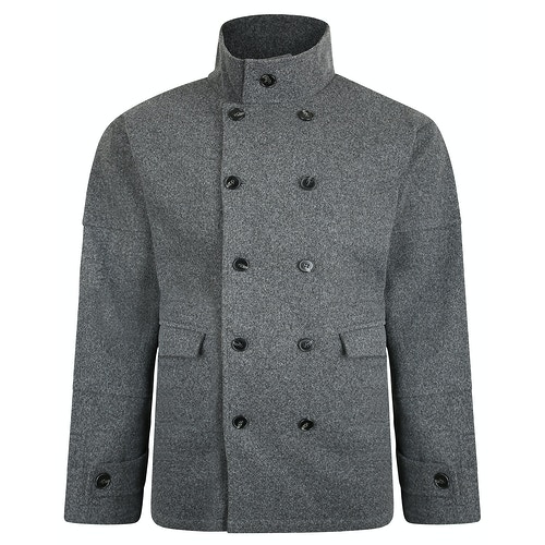 Bigdude Double Breasted Coat Grey