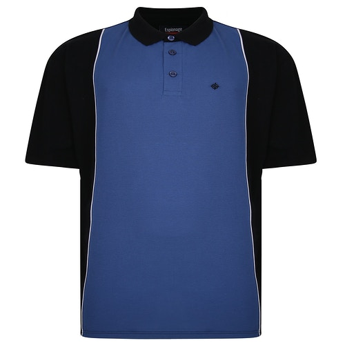Espionage Cut And Sew Polo Shirt Black