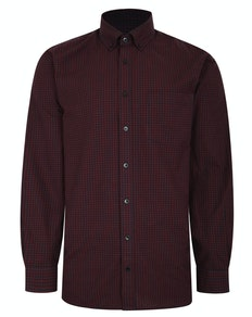 Bigdude Long Sleeve Gingham Shirt Red Tall