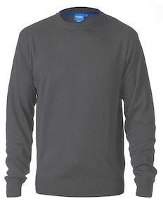 D555 Schlichter Pullover mit Rundhalsausschnitt Anthrazit