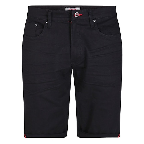 D555 Gilbert Stretch Canvas Shorts Black