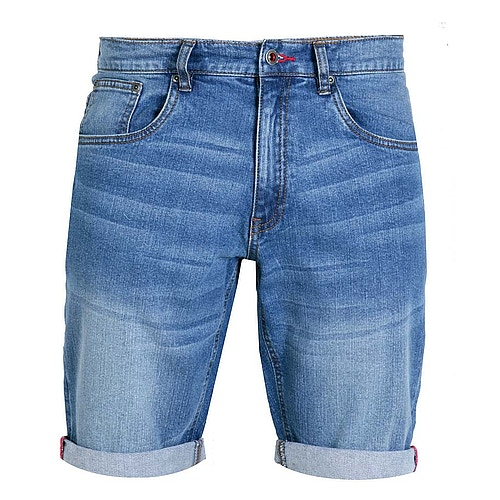 D555 Griffin Stretch Denim Shorts Stonewash