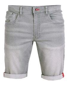 D555 Griffin Stretch Denim Shorts Grey