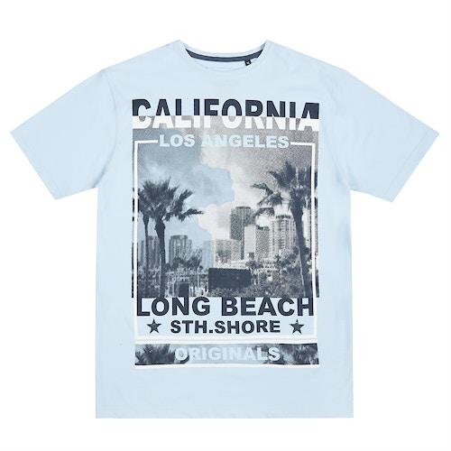 Pierre Roche LA South Shore T-Shirt Pale Blue