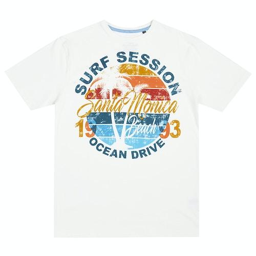 Pierre Roche Santa Monica Print T-Shirt Off White
