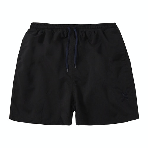 Embroidered Swim Shorts Black