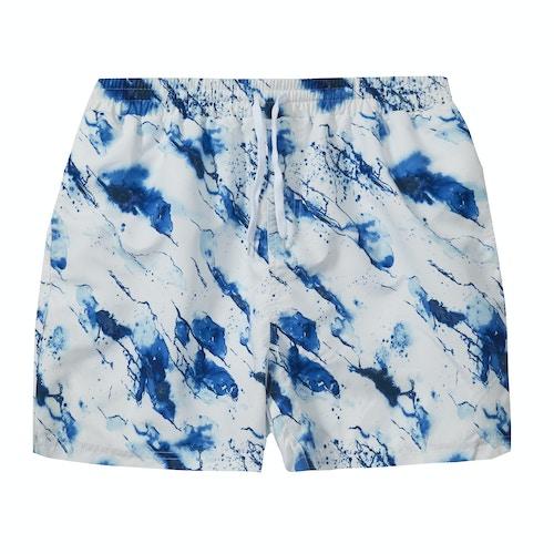 Splash Print Swim Shorts White