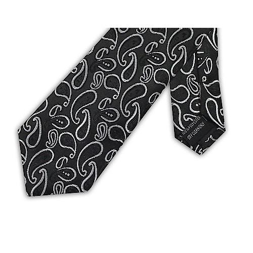 Knightsbridge Extra Long Large Paisley Tie Black