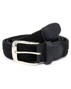 D555 Simon Stretch Braided Belt Black