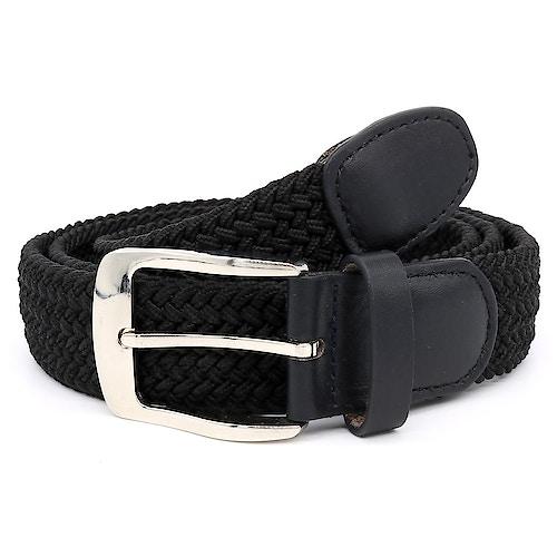 D555 Simon Stretch Braided Belt Black