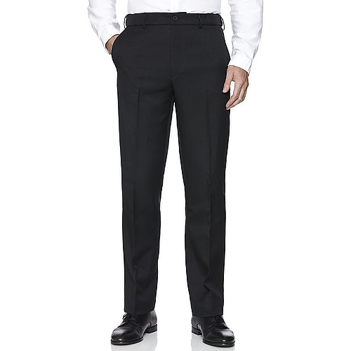 Farah Anzughose mit elastischem Bund Schwarz