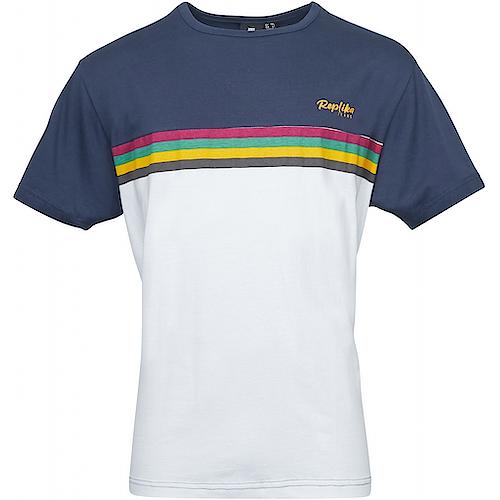 Replika Chest Stripe T-Shirt Navy