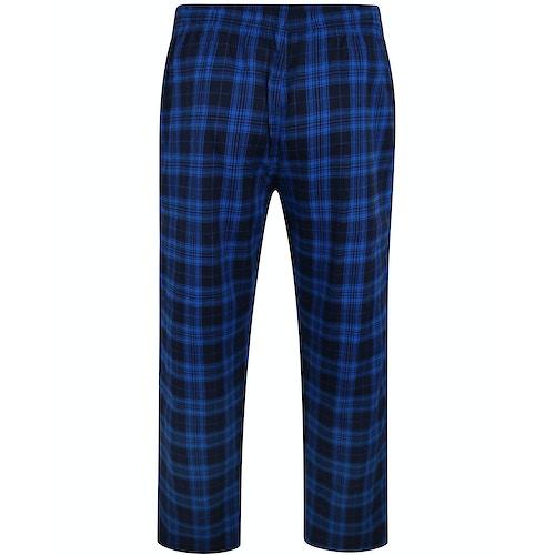 Bigdude Check Lounge Pants Royal Blue/Navy