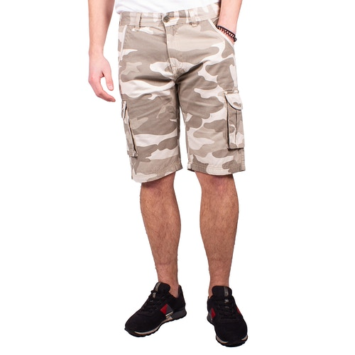 Bigdude Camouflage Cargo Shorts Beige
