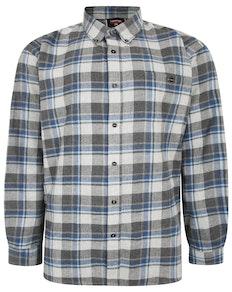 Espionage Long Sleeve Brushed Check Shirt Blue/Grey
