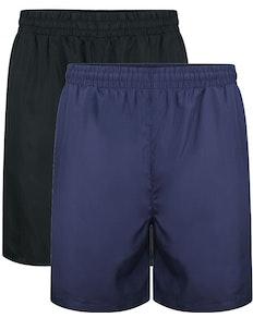 Bigdude Mesh Panel Shorts Royal Twin Pack Black/Navy