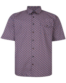Espionage Circle Geometric Print Shirt Navy