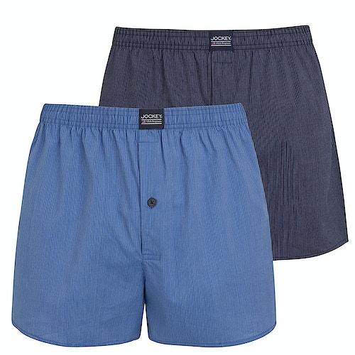 Jockey 2 Pack Boxer Shorts - Star Blue