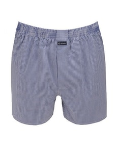 Jockey Mid Blue Check Boxer Short